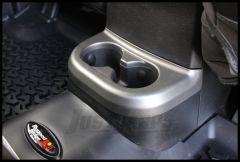 Rugged Ridge Rear Cup Holder Accent in Charcoal For 2011-18 Jeep Wrangler JK 2 Door & Unlimited 4 Door Models 11157.18
