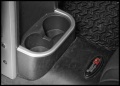 Rugged Ridge Rear Cup Holder Accent In Silver For 2007-10 Jeep Wrangler & Wrangler Unlimited JK 11151.18