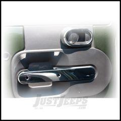 Rugged Ridge Rear Door Handle Trim In Chrome For 2007-10 Jeep Wrangler Unlimited JK 4 Door With Power Locks 11156.17