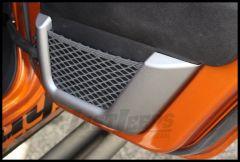 Rugged Ridge Rear Door Net Trim In Charcoal For 2011-13 Jeep Wrangler Unlimited JK 4 Door 11157.22