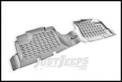 Rugged Ridge Rear Floor Liner In Grey For 2007+ Jeep Wrangler Unlimited JK 4 Door 14950.01