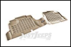 Rugged Ridge Rear Floor Liner In Tan For 2007+ Jeep Wrangler Unlimited JK 4 Door 13950.01