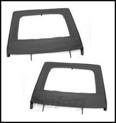 Rugged Ridge Rear Soft Upper Doors in Black For 2007-18 Jeep Wrangler JK 2 Door & Unlimited 4 Door Models 13712.15