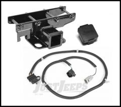 """Rugged Ridge Rear Hitch 2"""" With Wiring Harness & Jeep Logo Hitch Plug For 2007-18 Jeep Wrangler JK 2 Door & Unlimited 4 Door Models 11580.52"""