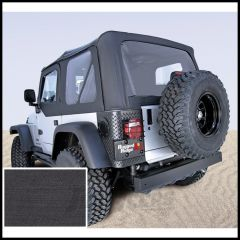Rugged Ridge (Black Denim) Replacement Soft Top Skin With Clear Windows For 2003-06 Jeep Wrangler TJ (Upper Door Skins Included) 13703.15