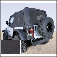 Rugged Ridge (Black Denim) Replacement Soft Top Skin With Tinted Windows For 1997-02 Jeep Wrangler TJ (Upper Door Skins Included) 13704.15