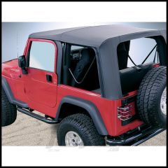 Rugged Ridge Replacement Soft Top Skin Black Diamond With Clear Windows For 2003-06 Jeep Wrangler TJ 13709.35