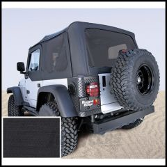 Rugged Ridge (Black Diamond) Replacement Soft Top Skin With Tinted Windows For 2003-06 Jeep Wrangler TJ Models 13710.35