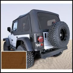 Rugged Ridge Replacement Soft Top Skin Dark Tan With Tinted Windows For 1997-02 Jeep Wrangler TJ 13706.33
