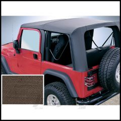 Rugged Ridge (Khaki Diamond) Replacement Soft Top Skin With Clear Windows For 2003-06 Jeep Wrangler TJ Models 13709.36