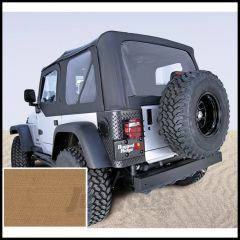 Rugged Ridge (Spice Denim) Replacement Soft Top Skin With Clear Windows For 1997-02 Jeep Wrangler TJ Models 13705.37