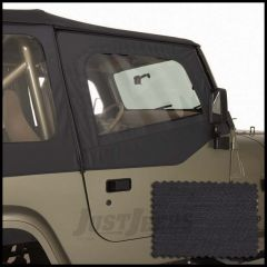 Rugged Ridge Replacement Upper Soft Door Kit Black Denim For 1988-95 Jeep Wrangler YJ 13713.15