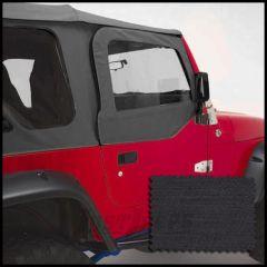 Rugged Ridge Replacement Upper Soft Door Kit Black Denim For 1997-06 Jeep Wrangler TJ & TJ Unlimited Models TJ & TJ Unlimited Models 13714.15