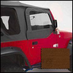 Rugged Ridge Replacement Upper Soft Door Kit Dark Tan For 1997-06 Jeep Wrangler TJ & TJ Unlimited Models 13714.33
