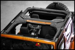 Rugged Ridge Roll Bar Cover in Black For 2007+ Jeep Wrangler Unlimited JK 4 Door 13613.01