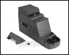 Rugged Ridge Steel Construction Stereo Security Console Black For 1976-95 Jeep CJ Series & Wrangler YJ 13104.01