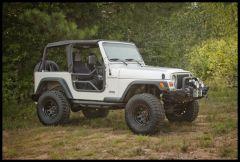 Rugged Ridge Tubular Doors in Textured Black For 1997-06 Jeep Wrangler TJ & Unlimited 11509.20