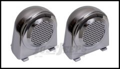 Rugged Ridge Tweeter Cover Accents (Pair) In Chrome For 2007-10 Jeep Wrangler & Wrangler Unlimited JK 11156.11