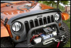 Rugged Ridge Bug Deflector in Smoke For 2007-18 Jeep Wrangler JK 2 Door & Unlimited 4 Door Models 11350.02