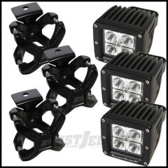 Rugged Ridge X-Clamp And LED Light Kit Black For Universal Applications (3 Piece Kit) 15210.03