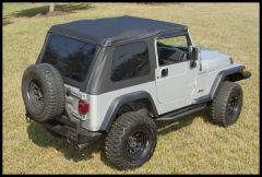 Rugged Ridge XHD Bowless Soft Top In Black Diamond For 1997-06 Jeep Wrangler TJ (Must Re-Use Factory Door Surrounds) 13750.35