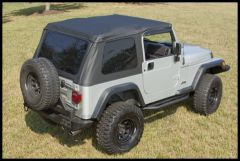 Rugged Ridge XHD Bowless Soft Top in Black Sailcloth For 1997-06 Jeep Wrangler TJ (Must Re-Use Factory Door Surrounds) 13750.01