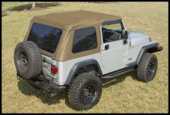 Rugged Ridge XHD Bowless Soft Top In Spice For 1997-06 Jeep Wrangler TJ (Must Re-Use Factory Door Surrounds) 13750.37
