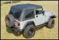 Rugged Ridge XHD Bowless Soft Top With Door Surrounds in Black Diamond For 1997-06 Jeep Wrangler TJ 13751.35
