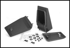 Rugged Ridge Modular XHD Front Bumper Storage Ends in Textured Black For 1976-06 Jeep CJ Series, Wrangler YJ & TJ Models With XHD Bumpers 11540.43
