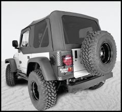 Rugged Ridge XHD Replacement Soft Top Black Sailcoth With Tinted Windows For 1997-06 Jeep Wrangler TJ 13728.01