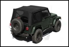 Rugged Ridge XHD Replacement Soft Top Skin Black Diamond With Tinted Windows For 1988-95 Jeep Wrangler YJ (Half Door Model Only) 13722.35