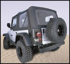 Rugged Ridge XHD Replacement Soft Top With Upper Door Skins & Tinted Windows In Black Diamond For 1997-02 Jeep Wrangler TJ 13724.35