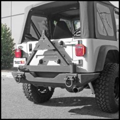 Rugged Ridge Xtreme Heavy Duty Tire Carrier Mount in Textured Black For 1976-06 Jeep CJ Series, Wrangler YJ & TJ Models 11546.42
