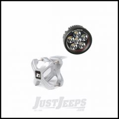 """Rugged Ridge X-Clamp Reg Size 2.25""""-3"""" In Silver & Round LED Kit 1-Piece 15210.13"""