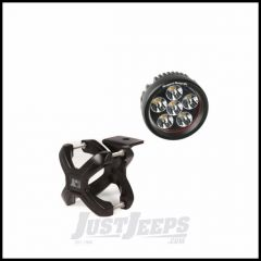 """Rugged Ridge X-Clamp Small Size 1.25""""-2"""" In Black & Round LED Kit 1-Piece 15210.24"""