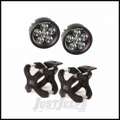 """Rugged Ridge X-Clamp Small Size 1.25""""-2"""" In Black & Round LED Kit 2-Piece 15210.25"""