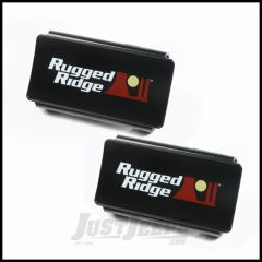 "Rugged Ridge 6"" LED Light Cover Kit In Black 15210.47"