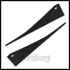 Warrior Products Front Fender Covers (12-Guage) In Black Finish  For 1998-06 Jeep Wrangler TJ Models S91601