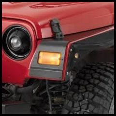 Warrior Products Front Fender Rock Protectors (12-Guage) In Black Finish For 1997-06 Jeep Wrangler TJ Models S91602