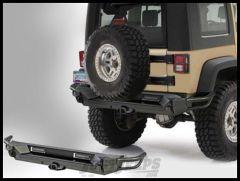 SmittyBilt SRC GEN2 Rear Bumper With Hitch In Black Textured For 2007-18 Jeep Wrangler JK 2 Door & Unlimited 4 Door Models 76614