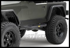 SmittyBilt SRC Side Armor In Black Textured For 1987-06 Jeep Wrangler YJ & TJ Models 76631