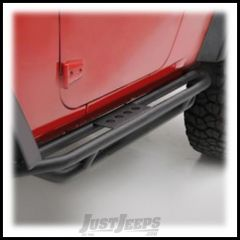 SmittyBilt SRC Side Armor In Black Textured For 2007-18 Jeep Wrangler JK 2 Door Models 76633