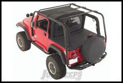 SmittyBilt SRC Roof Rack In Black Textured For 2007-18 Jeep Wrangler JK 2 Door Models 76716