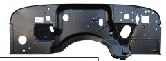 KeyParts Firewall For 91-95 Jeep Wrangler YJ 0480-216