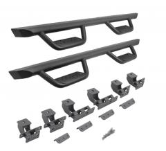 Go Rhino Dominator Extreme D2 Side Step Kit - Black for 21+ Ford Bronco 4 Door D24129T