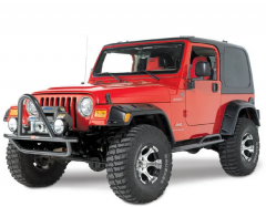 "Quadratec 6"" Pocket Style Fender Flares for 97-06 Jeep Wrangler TJ & Unlimited 12506.0302"
