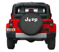 Boomerang Enterprises Jeep Paw Print Logo Tire Cover for 87-18 Jeep Wrangler YJ, TJ, & JK TC-JPAW-