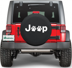 Quadratec Jeep Paw Prints Dog Lover Tire Cover 80000-