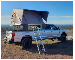 """Free Spirit Recreation High Country 80"""" Premium Rooftop Tent in Grey 100-RTHC80P30"""