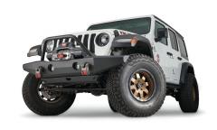 Warn Crawler Full Width Front Bumper with Tube (Black) for 07-20+ Jeep Wrangler JK, JL & Gladiator JT 102146